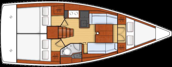 Oceanis 35.1 3 cabin